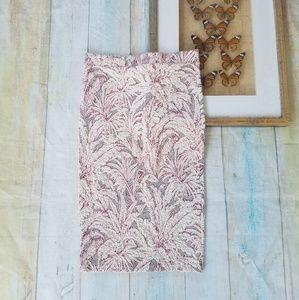 Zara Textured Knit Palm Print Pencil Skirt